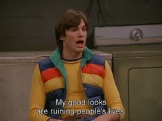 Christmas gifs that show Michael Kelso season 7 70s Quotes, That 70s Show Quotes, Tv Show Quotes, Film Quotes, Psycho Quotes, Happy Quotes, Positive Quotes, That 70s Show Characters, Movies And Tv Shows
