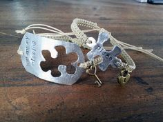 Couples Bracelet 145 Engraved Puzzle set Lock and Key by 2style