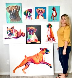 Boxer Dogs Boxer Paintings by Nicole Carothers - Lap Dogs, Boxer Dogs, Boxers, Dog Quotes Love, Dog Pictures, Dog Photos, Funny Dog Memes, Dog Paintings, Fun To Be One