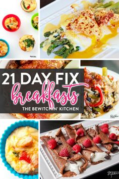 21 Day Fix breakfast recipes featured on the ULTIMATE 21 Day Fix resource guide - features reviews, 21 day fix results, and recipes.
