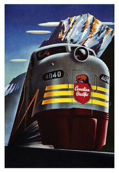 Canadian Pacific Railroad Art Print