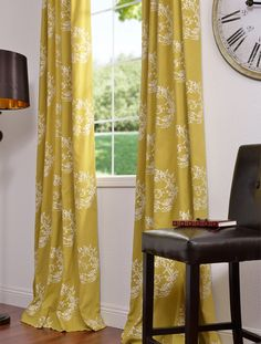 yellow curtains - etsy