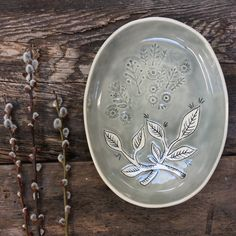 Krystal Speck. Folklore Stamped Oval Tray