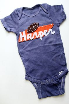Custom dyed Tennessee onesie by PetalandTwigFelt on Etsy