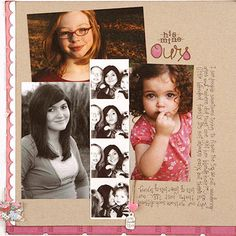 Family Scrapbook Layout Ideas