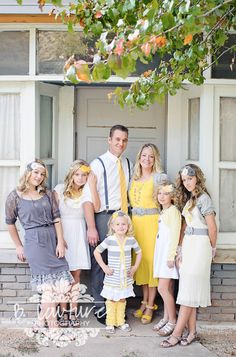 Family Picture Clothes by Color Series-Yellow - Capturing Joy with Kristen Duke