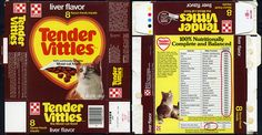 Ralston Purina - Tender Vittles - liver flavor - cat food box - 1984 | Flickr - Photo Sharing!