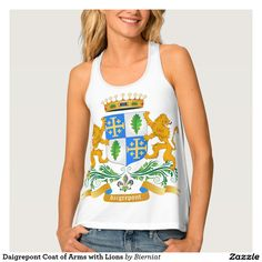 Daigrepont Coat of Arms with Lions Tank Top