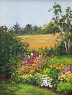 """My Garden"" by Karen McManus. 10""x8"", Oil on Panel. Available at www.maine-art.com"