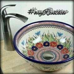 Hand painted bathroom sinks by Rustica House. #rusticahouse #myrustica