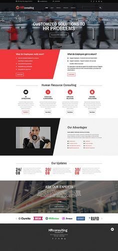 Template 52049 - HR Consulting  Responsive Website Template