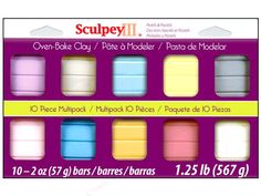 Sculpey III Clay Set 10pc Pearls & Pastels