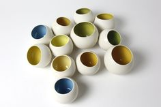 Porcelain pots from Amber Orchard