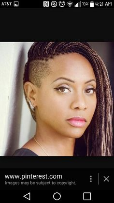 MC Lyte in the micro braids tapered sides.