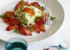 Beetroot-cured salmon with fennel, capers and kipfler potatoes recipe - 9Kitchen