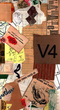 V4 paper collage by Donnas Schaeffer