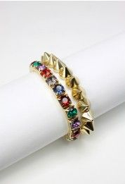 #Chicwish Diamond Spike Twin Bracelets