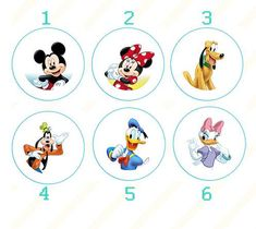 1 inch Mickey Mouse Clubhouse pin back buttons