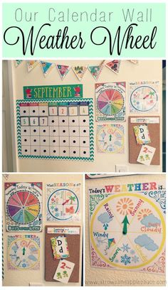 Arrows & Applesauce: Printables Preschool circle time. Weather wheel.