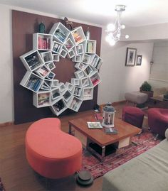 Ezyshine has bought the creative contemporary bookshelves design ideas that can fit on the walls, save the space & can give a sleek look to the home interior. These contemporary bookshelves design can make your home colourful & scenic.