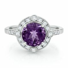 Amethyst & White Sapphire Ring in Sterling Silver - Shop All Jewelry - Jewelry - Helzberg Diamonds
