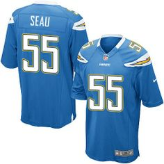 brand new 4e946 2fb3d Junior Seau Jersey: Authentic Chargers Women's Youth Kids ...