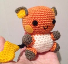 Amigurumi Crochet Raichu with pattern