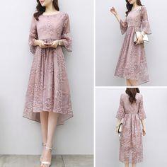 Japanese Fashion, Modern Fashion, Chiffon Dress, Dress Skirt, Model Kebaya Modern, Kebaya Dress, Korea Fashion, Classy Dress, Modest Outfits
