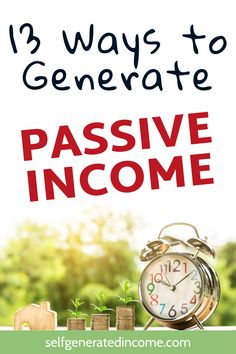 Here are 13 ways to create passive income streams. Including making money online and making money from home. Passive Income Sources, Passive Income Streams, Creating Passive Income, Earn Money Online, Make Money Blogging, Online Income, Make Money Fast, Make Money From Home, Blogging For Beginners