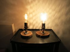 Rustic Chic Table lamp with reclaimed wood base by RizzoAndCrane, $65.00