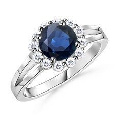 Round-Sapphire-and-Diamond-Split-Shank-Ring