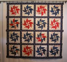 """Scrappy R Pinwheel Quilt by """"AnitaSt"""" from the quiltingboard.com"""