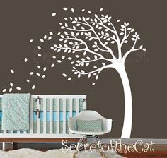 Nursery Wall Decal Tree decal Autumn Tree decal by secretofthecat, $99.00