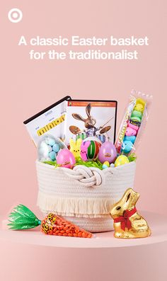 Bunnies and chocolate, chicks and marshmallows, Easter classics never go out of style. Fill your timeless bunny's Easter basket with all the greatest hits of the holiday.