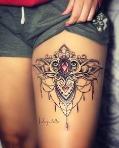 Tattoos for myself - tatoo feminina Gem Tattoo, Jewel Tattoo, Lace Tattoo, Tattoo Life, Piercing Tattoo, Piercings, Tattoo On Thigh, Sternum Tattoo Design, Hamsa Hand Tattoo