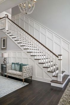 Home Design Stairs Staircases Ideas Staircase Remodel, Staircase Makeover, Home Design, Interior Design, Design Ideas, Wall Design, Modern Interior, Interior Architecture, Paint Colors For Home