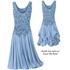 """Pyramid Collection: Firenze Tank Dress  Exclusive! The sunny skies of Florence: inspiration for this printed dress, featuring long, godet inserts all around, with inside ties to raise or lower the hem! Cotton/Spandex. Machine washable. Made in USA. Color: Sky Blue. Sizes: XS (2-4), S (6-8), M (10-12), L (14-16), XL (18); 41""""-43"""" long.    ****  Firenze Tank Dress  Item #: P87583. Price 89.95 USD. http://www.pyramidcollection.com/itemdy00.asp?T1=P87583%20XS=igodigital=ProductB"""