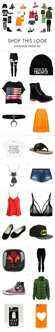 """""""All different but all the same"""" by nightdragon-398 ❤ liked on Polyvore featuring WithChic, Chicnova Fashion, Timberland, MSGM, MIA, Amanda Rose Collection, 3x1, Sans Souci, New Look and Converse"""