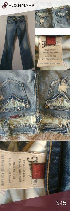 Miss me jeans Miss Me Size 27 Boot Cut Stretch Denim Style JP4221F2 Flap Pockets Womens Jeans. Excellent condition. Miss Me Jeans Boot Cut