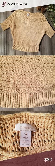 Chicos Size 3 Knit Weaved Sweater Cream Great condition. Chicos size 3. Knit Weaved pullover sweater. Chico's Sweaters Crew & Scoop Necks