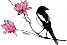 Second Magpie (for Mirth) to be placed behind the first, either above or below