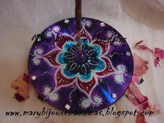 porta incienso Decorative Plates, Diy, Tableware, Reuse, Home Decor, Creativity, Craft, Con Cd, Mandalas