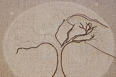 Embroidered Tree- in progress by amparojelsma, via Flickr