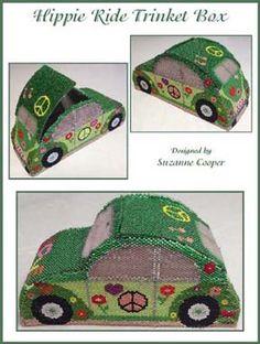 Hippie Ride Trinket Box Bead Pattern by Suzanne Cooper at Sova-Enterprises.com