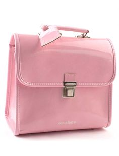 Marshmallow pink #whatgirlswant gorgeous patent leather schoolbag. 100% made in Italy, worldwide deliveries