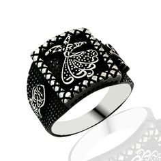 Beelogold - 925K Sterling Silver Dervish Men Ring