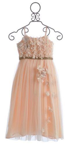 peach junior bridesmaid dresses | Le Pink Fairy Princess Peach Tween Special Occasion Dress $106.00