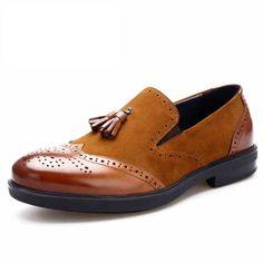 e74e67a4f674 Handcraft Brogue Cap Toe Loafers Spectator Shoes