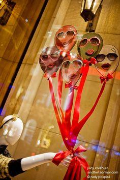Fun way to display sunglasses, hats etc..