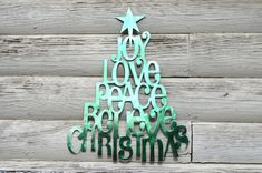 Plasma Cut Christmas Tree Wall Art by BittsofSteel on Etsy